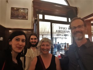 Richard Harrison, his wife Lisa Rouleau, Riccardo Frolloni and I